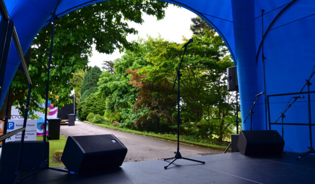 Stage cover outdoor events